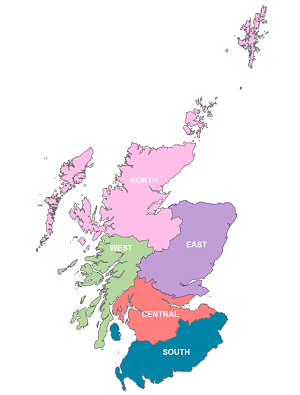 Forestry and Land Scotland Regions